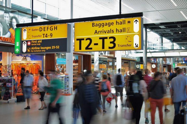 Vliegveld boarding